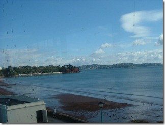 View from steam train from Paignton to Kingswear