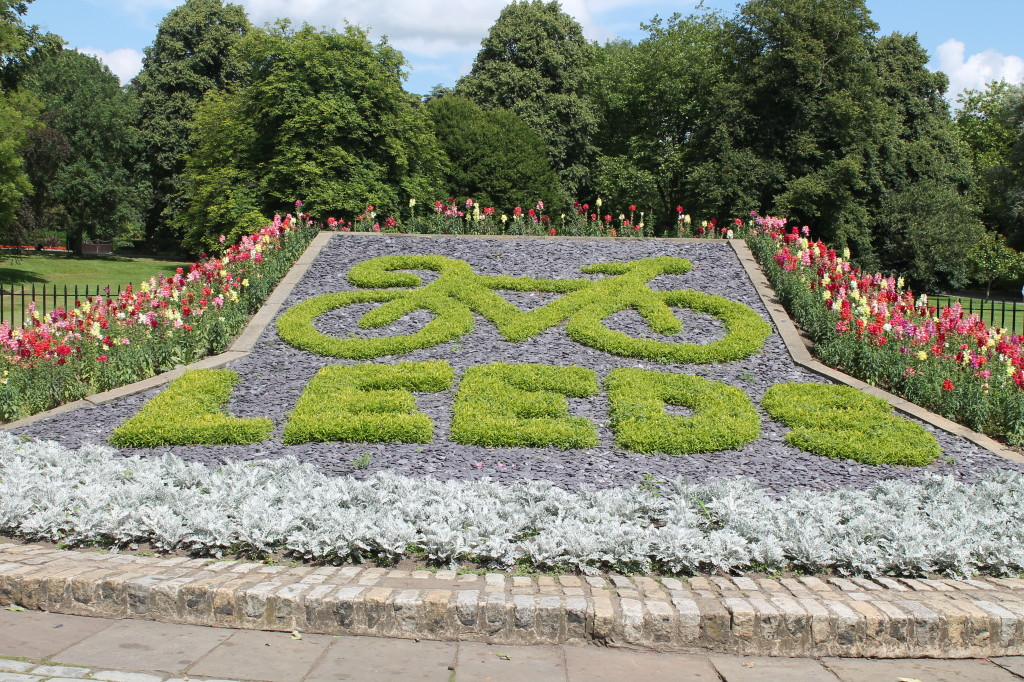 Tour de France flower display in the park