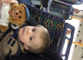 Jofli goes by bus