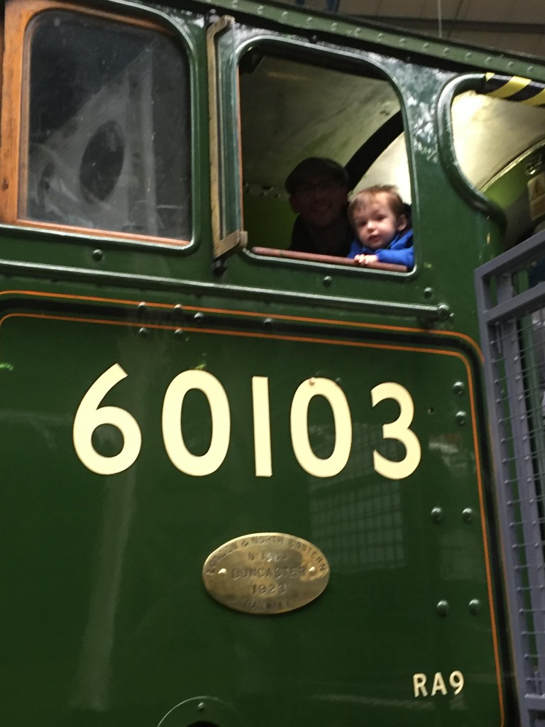Proof - 60103. Daddy looking a little ghostly while Thomas sat in the driver's seat.