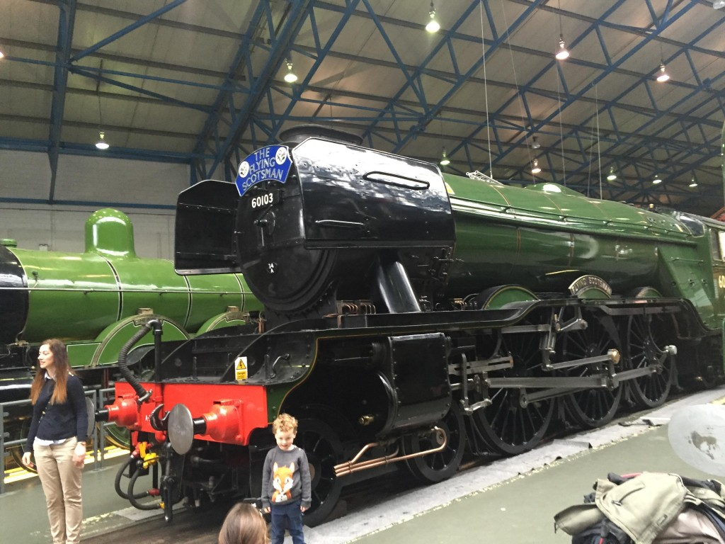 The Flying Scotsman - still in one piece after Thomas and Daddy were on board!